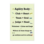 Agility Body Mini Poster Print