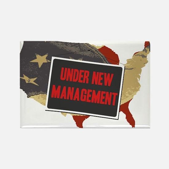 USA Under New Management Rectangle Magnet