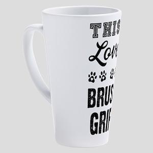 Brussels Griffon 17 oz Latte Mug