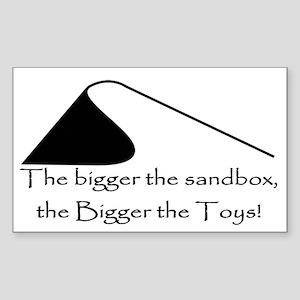 Bigger Sand Toys Rectangle Sticker