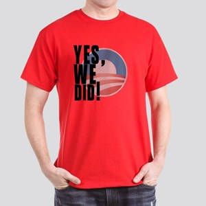 Barack Obama - Yes We Did Dark T-Shirt