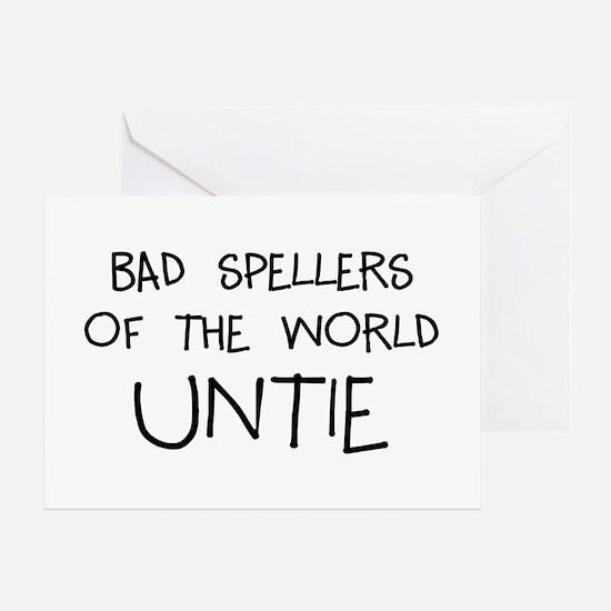 Bad Spellers Greeting Card