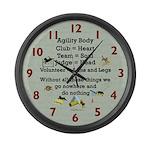 Agility Body Large Wall Clock