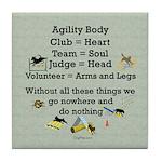 Agility Body Tile Coaster