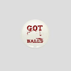 Paintball Player Got Balls Softball Ai Mini Button