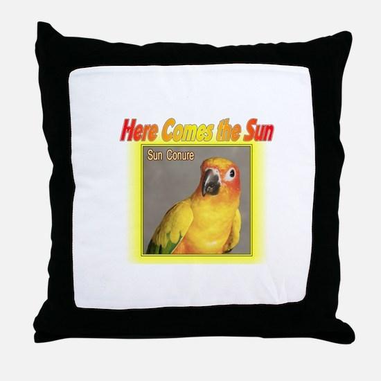 Sun Conure Throw Pillow