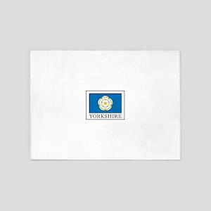 Yorkshire County flag England 5'x7'Area Rug