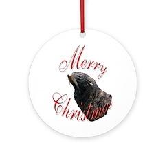 Christmas Sea Lion Ornament (Round)
