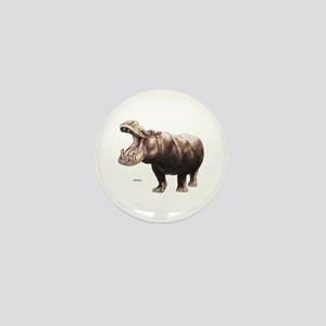 Hippo Hippopotamus Mini Button