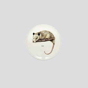 Opossum Possum Mini Button