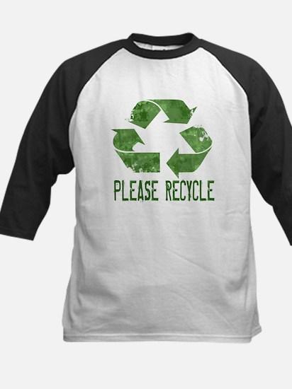 Please Recycle Grunge Kids Baseball Jersey