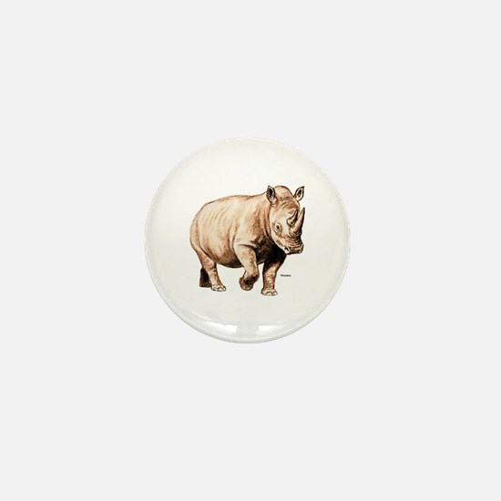 Rhino Rhinoceros Mini Button