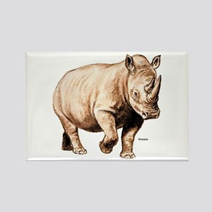 Rhino Rhinoceros Rectangle Magnet