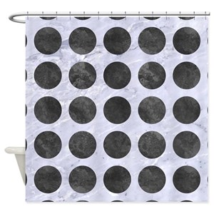 Metal Circles Shower Curtains