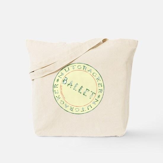 Nutcracker Ballet Stamp Tote Bag
