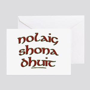 Irish Christmas Greeting Greeting Card