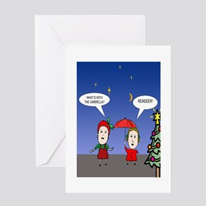 Holiday Waiting For Reindeer Greeting Card