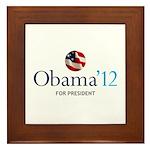Obama '12 Framed Tile