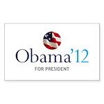 Obama '12 Rectangle Sticker 50 pk)
