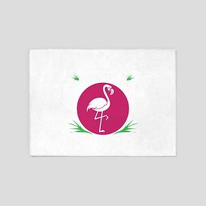 Flamingo Shirt Flamingo Water Bird 5'x7'Area Rug