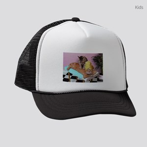 Funny Cat Massage Kids Trucker hat