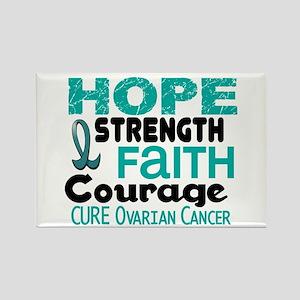 HOPE Ovarian Cancer 3 Rectangle Magnet