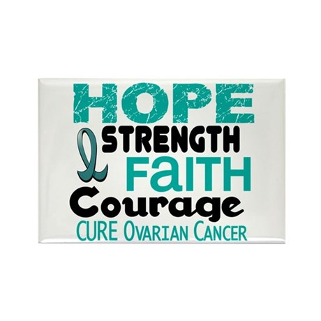 HOPE Ovarian Cancer 3 Rectangle Magnet