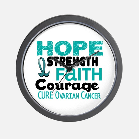HOPE Ovarian Cancer 3 Wall Clock