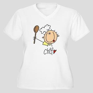 Male Chef Women's Plus Size V-Neck T-Shirt