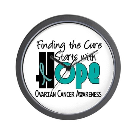 HOPE Ovarian Cancer 4 Wall Clock