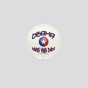 OBAMA Yes We Did! Mini Button