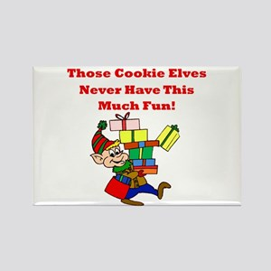 Cookie Elves Never Have Fun Rectangle Magnet