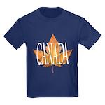 Canada Kids Dark T-Shirt Canada Childrens T-shirt