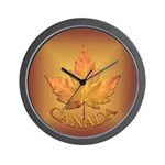 Canada Wall Clock Canadian Maple Leaf Art Clock