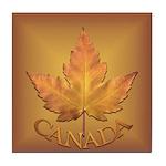 Canada Tile Coaster Maple Leaf Souvenir Coaster