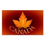 Canada Rectangle Sticker 50 pk)