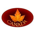 Canada Oval Sticker (10 pk)
