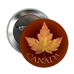 """Canada 2.25"""" Button Canadian Maple Leaf Butto"""