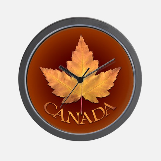 Canada Wall Clock Canadian Maple Leaf Art Clock