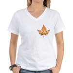Canada Women's V-Neck T-Shirt Canada Souvenir Tee