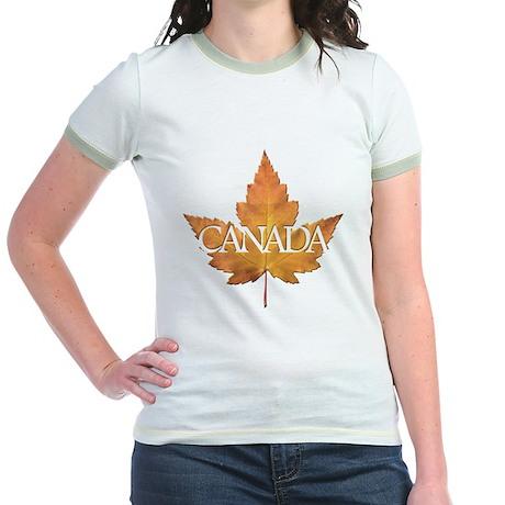Canada Jr. Ringer T-Shirt Canada Souvenir Jr. Tees