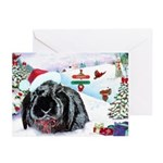 Inky Rabbit Christmas Greeting Cards (Pk of 20)