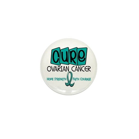 CURE Ovarian Cancer 1 Mini Button (100 pack)