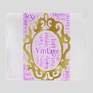 vintage hipster mirror beauty hot se Throw Blanket