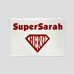 Super Hero Sarah Rectangle Magnet