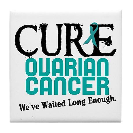 CURE Ovarian Cancer 3 Tile Coaster