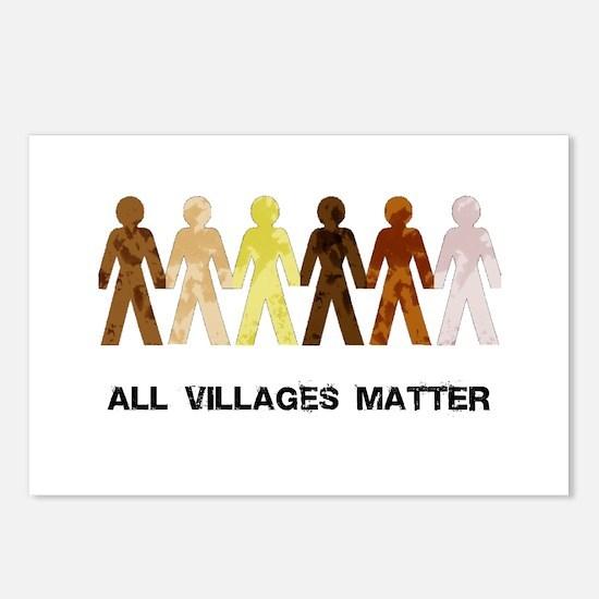 Riyah-Li Designs All Villages Matter Postcards (Pa