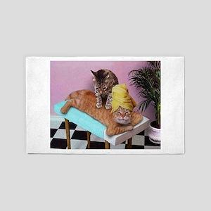 Funny Cat Massage Area Rug