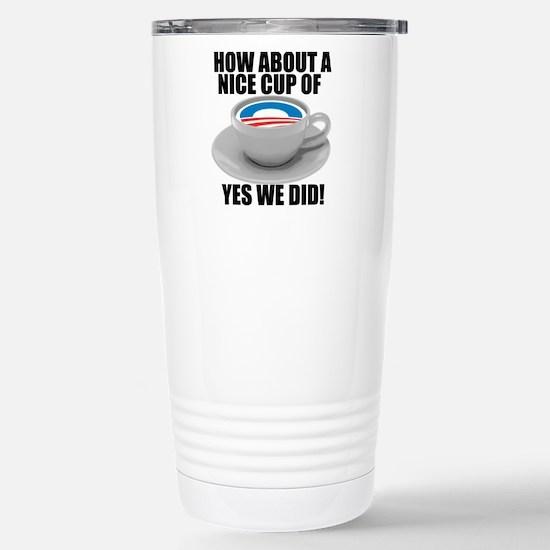 Obama Biden 2008 Stainless Steel Travel Mug