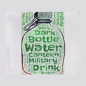 bottle water canteen military water Throw Blanket